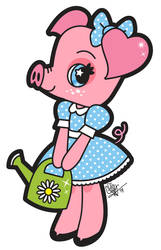 Watering Piggy by chelseyholeman
