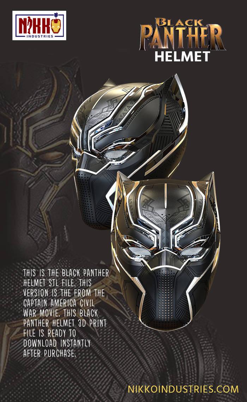 Black Panther Helmet Pin by doi313