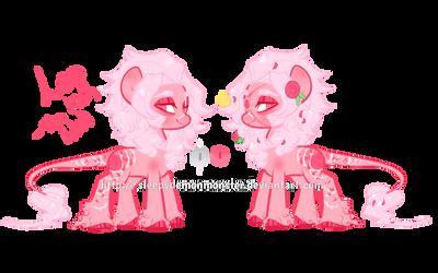 New oc: Leo the Pink Lion pony by SleepyDemonMonster