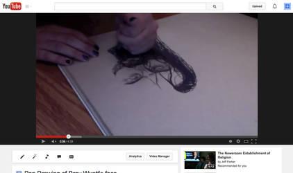 Drawing Pen - Bray Wyatt's face by faluccangel