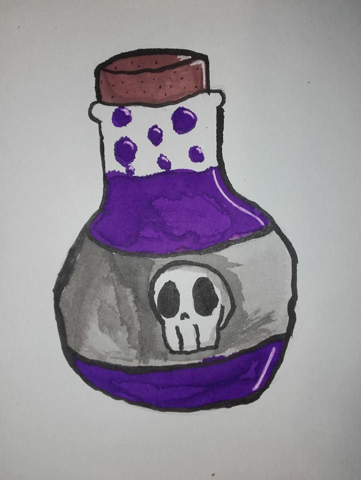 Inktober Day 1 - Poisonous by NoodlesD0odles