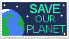 Save Our Planet stamp by BurntGears