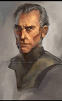 Grand Moff Tarkin by kradeelav