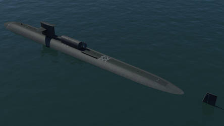 USS Dallas SSN 700 with Dry Deck Shelter by Bartolomeus755