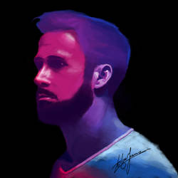Ryan Gosling #digitalpainting by WickedDogg