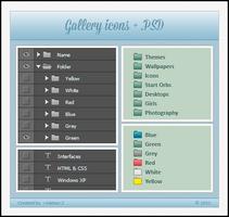 DeviantART Gallery Icons + .PSD by Kamaz-Z