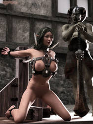 Elf warrior in trouble by FantasyErotic