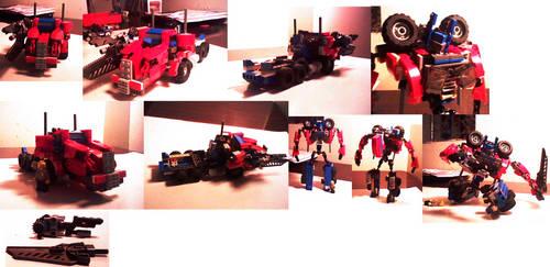 Lego Transformer Creations: Optimus Prime V.3 by supahcomicbro