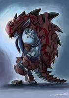 Heavy-armoured Troll by bramLeech