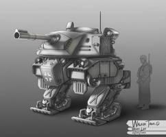 WW2 Walker Tank 02 by bramLeech