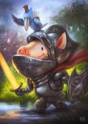 Sir Hampigston and The Wise Bird by bramLeech