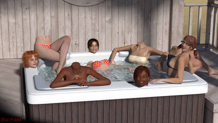 Detachable Hot Tub Party by Evil-Frank