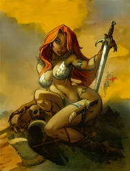 Campbells red sonja by Alex0wens