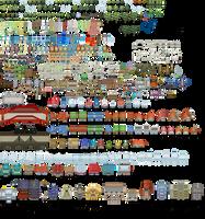 Pokemon Tileset From Public Tiles by ChaoticCherryCake