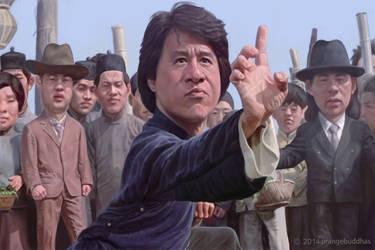 Jackie Chan  by orangebuddhas