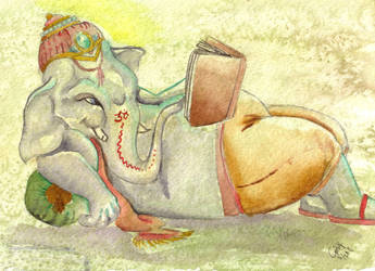 Reclining Ganesh by SophieDragon