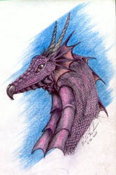 Red Dragon Pencil art by Wolfhawk