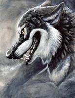 Phantom wolf by hibbary