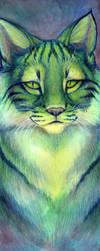 Green Cat by hibbary