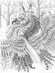 griffin in winter by hibbary