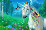 meadow foraging background by hibbary