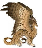 classic tabby dragon by hibbary