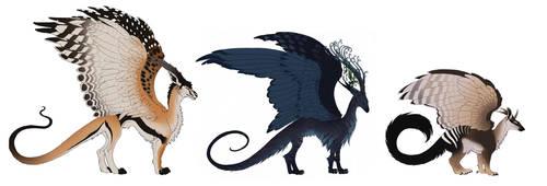 3 dragons by hibbary