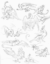 dragons in motion by hibbary