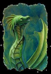 green sea dragon by hibbary