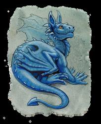 baby blue dragon by hibbary