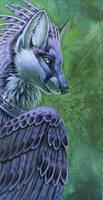 Winged Fox by hibbary