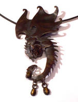 dragon pendant by hibbary