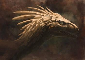 Golden Raptor by hibbary