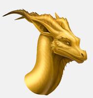 Gold dragon by hibbary