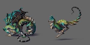 Dragon hybrids by hibbary
