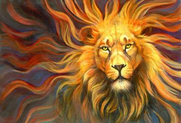 Spirit Lion by hibbary