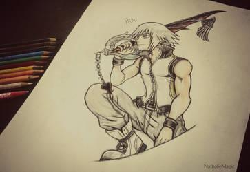 My Drawing - Riku by NathalieMagic
