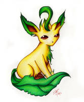 Leafeon by Susaleena