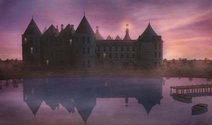 Castle at dawn by Tellurian84