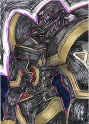 Posessed Alphamon by soul-searcher243