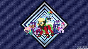 Power-Ponies wallpaper by Santzii