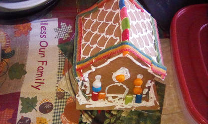 My gingerbread cabin by DEMONrhino66698