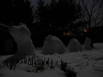 Snow Nessie in the night by Alan7812