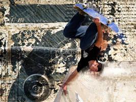 Skateboarding by Snufver