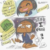 illustration frustration by reyokk