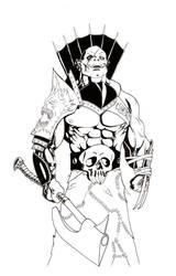 Half-Orc Cleric of Asmodeus by PerezArt