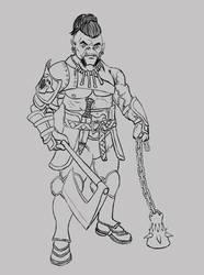 Half-Orc Warrior by PerezArt