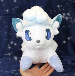 Alola Vulpix plush by TeacupLion