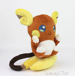 Alola Raichu plush by TeacupLion
