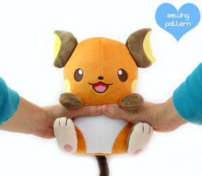 Raichu plush pattern by TeacupLion
